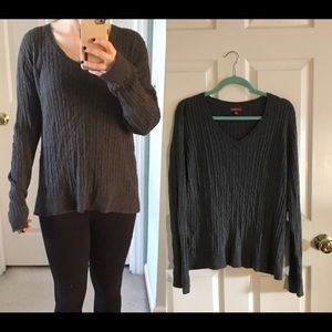 Grey v neck cable knit sweater from Merona, Target